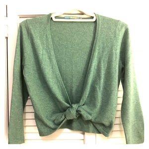EUC Boden Cashmere Blend Tie Front Sweater 2US